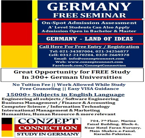 Germany Free Study Seminar For Pakistani Students