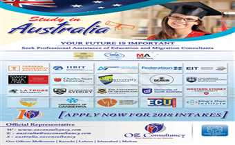 OZ CONSULTANCY SERVICES PROUDLY PROVIDES ITS SERVICES FOR STUDIES IN AUSTRALIA.....