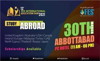 12th FES International Education Fair 2021- PC Hotel Abbottabad