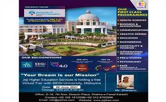 virtual fair with segi university of malaysia