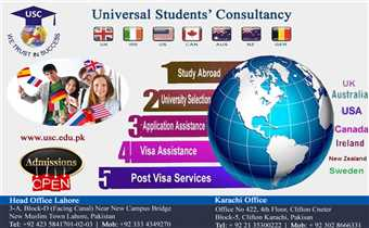 Study in UK/Australia/USA/Canada or Europe in Top ranked Universities