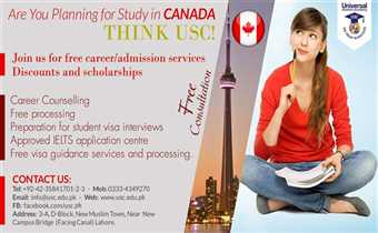 Study in Canada. Admissions open for May 2019 intake.