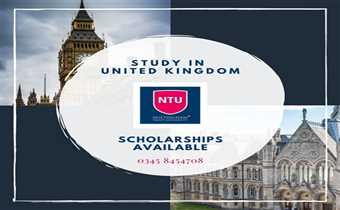 Nottingham Trent University is offering bachelor and master programs in Engineering, Business Studies, IT and various others fields.  Fill the form be