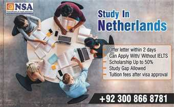 Study in Netherlands Scholarships available up-to 50%
