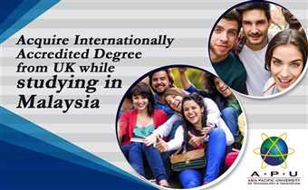 Join #AsiaPacificUniversity #Malaysia for further education and get world recognized University of Staffordshire, UK Degree at affordable cost