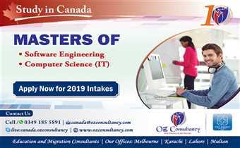Study Software Engineering & Computer Sciences - Canada..!!