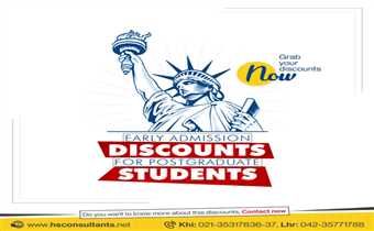 Study in the USA Early Admission Discounts for Postgraduate Students