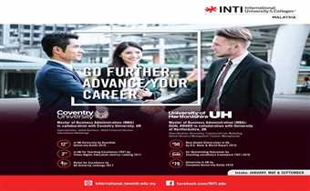 Go further advance your career with INTI UNIVERSITY..!!