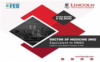 Get your Doctor of Medicine (MD) degree from Malaysia. It's equivalent to MBBS and is also accepted by Pakistan Medical Commission (PMC, formerly PMDC