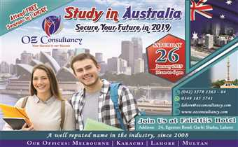 Visit our FREE SEMINAR in LAHORE on 26th January, 2019 - OZ CONSULTANCY..!!