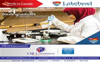 Would you like to study in a university that is comprehensive and research intensive? Lakehead is your answer, For details visit www.ozconsultancy.com