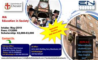 Study in UK  MA Education in Society