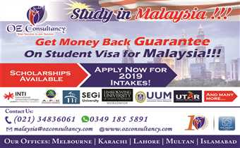 Study in Malaysia - with OZ CONSULTANCY..!!