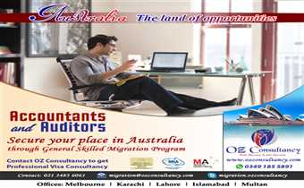 General Skilled Migration Program for Accountant and Auditors; Apply through OZ CONSULTANCY..!!