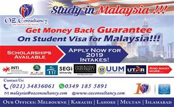 Avail astonishing scholarship opportunities along with money back guarantee on Student Visa for Malaysia