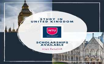 Nottingham Trent University is offering bachelor and master programs in Engineering, Business Studies, IT and various others fields.
