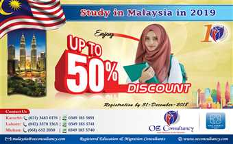Avail upto 50% Discount on Registration Malaysia..!!