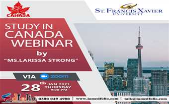Study In Canada Webinar By Saint Francis Xavier University Official's
