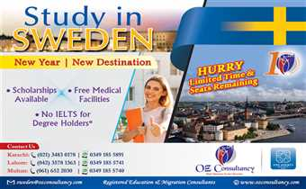 Study in SWEDEN with OZ CONSULTANCY..!!