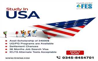 Study In USA With FES Higher Education Consultants Pvt Ltd  Bachelors & Masters Programs Scholarships Available Upto $34000