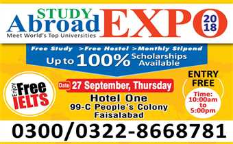 Study Abroad Expo-2018 on 27 September, 2018