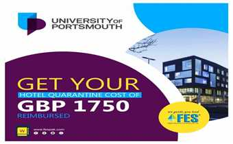 Good news for students of the University of Portsmouth UK. Now students traveling to the UK for the University of Portsmouth will get their hotel quar