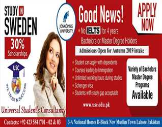 Study in Sweden. Admissions open for Autumn  intake.