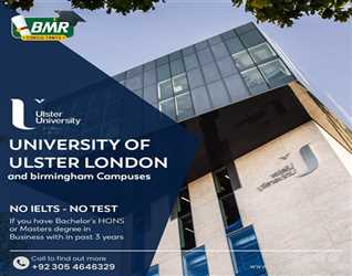 Study In #UK at University of Ulster #London and #birmingham Campuses. ?NO IELTS - NO TEST?