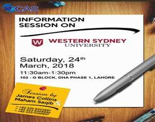 WESTERN SYDNEY UNIVERSITY- Session by James Collins & Maham Saqib 11:30 am - 1:30 pm, DHA-Lahore