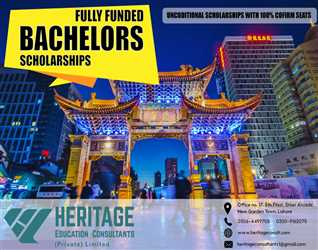 FULLY FUNDED SCHOLARSHIPS FOR BACHELORS IN CHINA FOR VARIOUS FIELDS !!!
