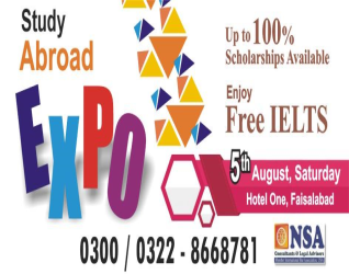 Study Abroad EXPO 2017 In Faisalabad Has Started.