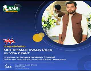 UK VISA GRANT .Congratulation Muhammad Awais Raza for getting UK Visa.