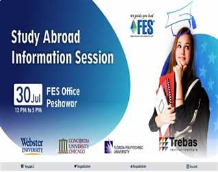 Come & Meet Official Representatives of the US Brands & Trebas @ FES Office Peshawar. On  July  From : PM To : PM