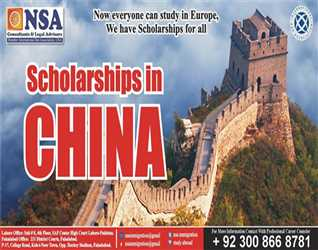 Scholarships in China Last Call for Oct-2018 Intake PhD, Master & Bachelor Admissions.  +92 300 866 8781