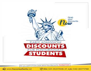 Study in the USA (Early Admission Discounts for Postgraduate students)