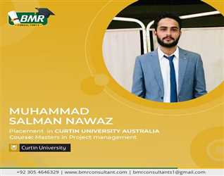 Congratulations to our student for getting placement in Curtin University Austarlia with scholarship.