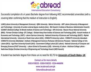 If you have studied form the Universities mentioning in the post you don't need IELTS. Avail this Opportunity Now