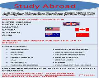 Study Abroad with Joji Higher Education Services (SMC-PVT) Ltd