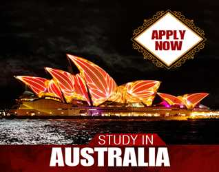 Study in Australia  Mega Offer: Holder of IELTS 6.5 Bands will get 75% Discount on Consultancy Fee. FEB 2018 Intake Min Qualification: Inter IELTS 5.5