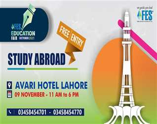 Get ready as we are coming to your city on th November  at Avari Hotel Lahore with the event of the year FES Education Fair October .