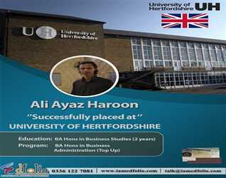 Top Up in UK Universities - Successfully Received Visa - University of Hertfordshire