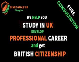 Zenux Group UK: Study in UK- Develop Professional Career and get British Citizenship