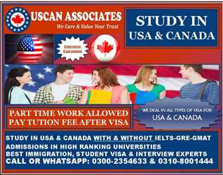 STUDY IN USA & CANADA WITH & WITHOUT IELTS % ADMISSION GUARANTEED