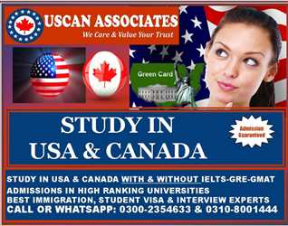 STUDY IN USA & CANADA WITH & WITHOUT IELTS 100% ADMISSION GUARANTEED