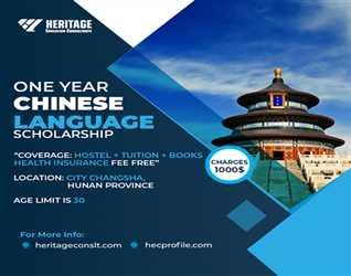 Chinese Language One Year Scholarship