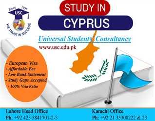 Study in Cyprus. High visa success ratio.