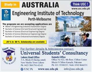 Study in EIT Australia for Bachelor/Masters in Engineering