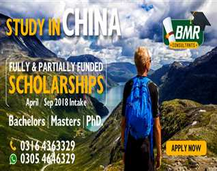 Study in China. Largest Scholarship Network in Pakistan. Bachelors, Masters and Phd. Scholarships  for September intake. Call us at 0305-4646329