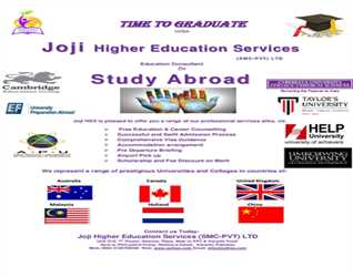 Study Abroad with Joji Higher Education Services (SMC-PVT) Ltd- Registration Procedure