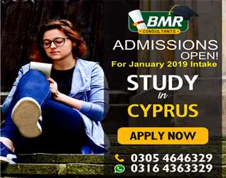 Study in Cyprus . Applications open for January intake. For Expert counselling call us at.